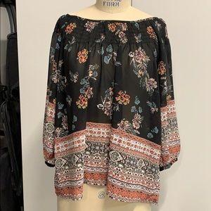 Floral Pheasant blouse